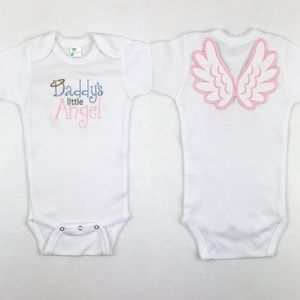 Daddy's Little Angel Bodysuit with Wings 3-6 mo
